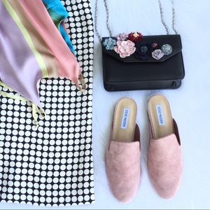 Womens Sanderson Round Toe Dress Loafer Mule Pink